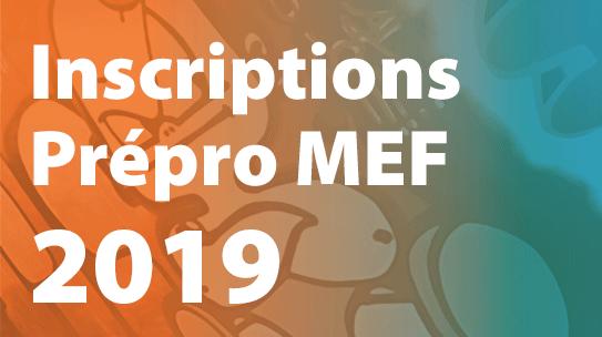 Inscriptions au parcours Préprofessionnalisation MEF